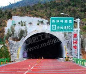 通平高速公路隧道防火涂料涂装